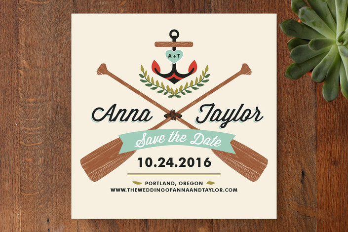 Campy Nautical Love Save the Date Cards