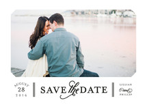 Sterling Save the Date Cards By Sarah Brown