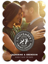Sealed with a Kiss Save the Date Cards