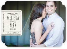 Book Plate Save the Date Cards