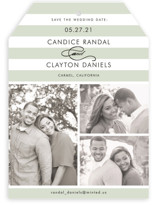 Striped Gallery Save the Date Cards