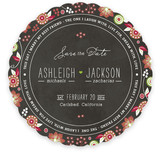 Festive Garden Save the Date Cards