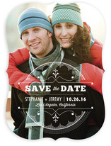 Sunburst Deco Emblem Save the Date Cards
