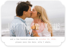 Just the Two of Us Save the Date Cards