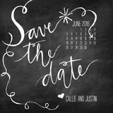 Chalk and Black Paper Save the Date Cards By Peter Loves Jane