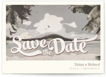 Vintage Tropical Save the Date Cards