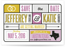 Typography &amp; Icons Save the Date Cards