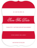 Nautical Nuptial Stripes Save the Date Cards