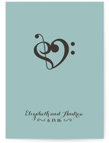 Beautiful Music Save the Date Cards
