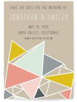 Love Triangles Geometric Save the Date Cards