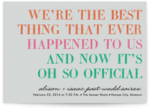 It's Oh So Official Save the Date Cards