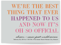 It&#039;s Oh So Official Save the Date Cards