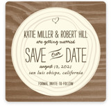 Wood Carving Save the Date Cards