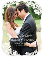 Floral Lace Save the Date Cards