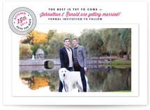 The Best is Yet to Come Save the Date Cards