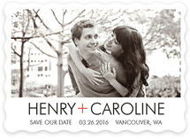 Simple Red Cross Save the Date Cards