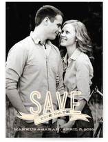 Banner Overlay Save the Date Cards