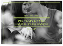 Elements of Love Save the Date Cards
