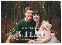 Embellished Save the Date Cards