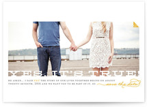 Yes, It's True Save the Date Cards