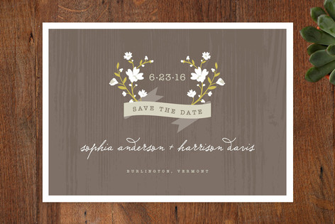 Woodland Save the Date Cards