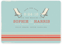 Vintage Beach Save the Date Cards