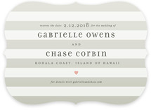 Ombre Stripes Save the Date Cards