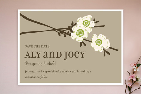 Spring Themed Save the Dates