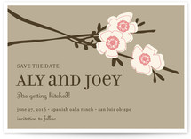 Apple Blossom Save the Date Cards