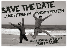 Boardwalk Stencil Save the Date Cards