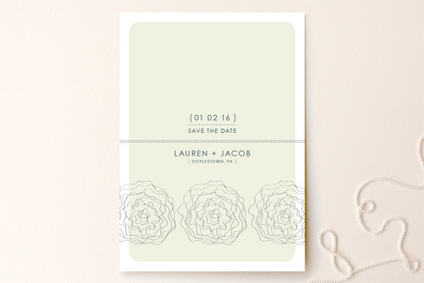 Wavy Flowers Save the Date Cards