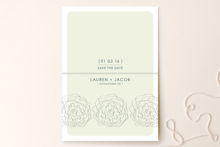 Simple Flower Save the Date Cards