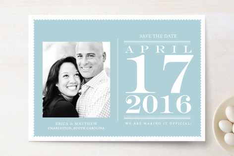 Desk Calendar Save the Date Cards