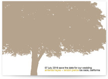 Under a Canopy of Falling Leaves Save the Date Cards