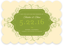 Flourishing Save the Date Cards