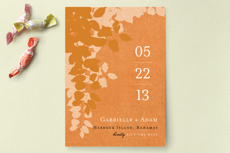 Autumn Leaves Save the Date Cards