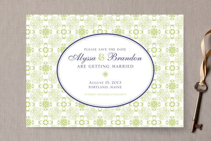 Vintage Inspired Save the Date Card