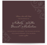 Elegant Flourish Save the Date Cards