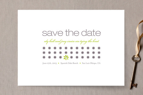 Daisy Calendar Save the Date Cards