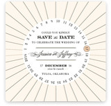 Float + Vintage Round Save the Date Cards