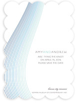 Glass Ribbons Save the Date Cards