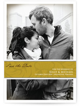 Golden Wrap Save the Date Cards