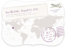 A Faraway Destination Save the Date Cards