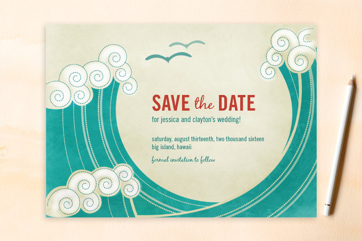 waves save the date