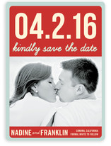 Float + Bold Date Save the Date Cards