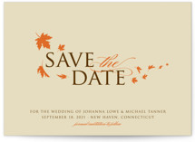 Fall Breeze Save the Date Cards