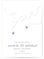 Ski Run Save the Date Cards