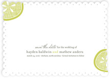 Lemon Drop Save the Date Cards