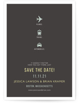 Plane Trains Automobiles Save the Date Cards