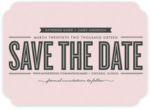 stripe+type Save the Date Cards